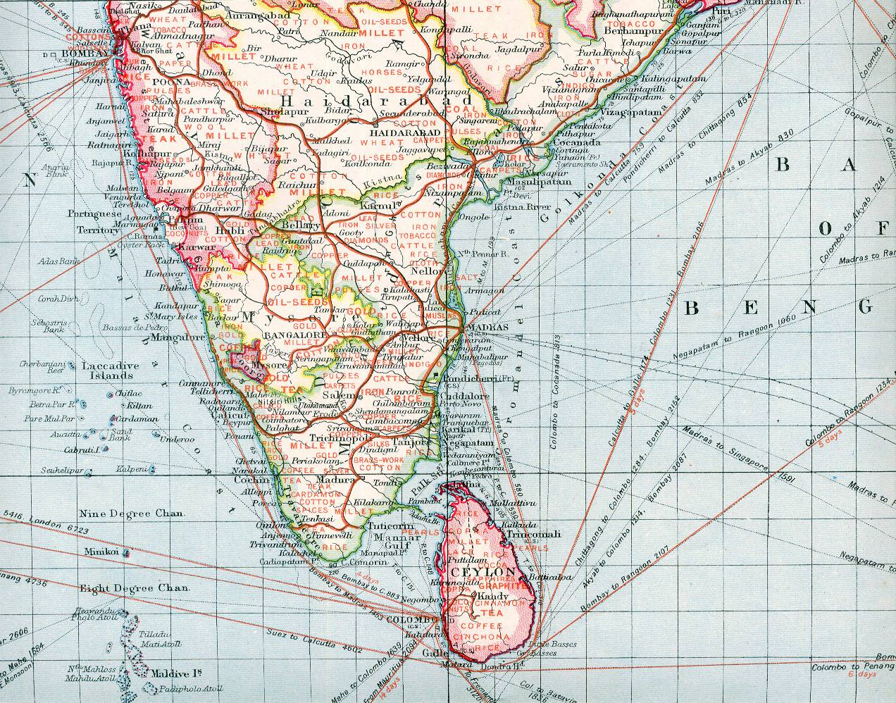 Southern Railway Map Of India.Mondaugen S Chicago